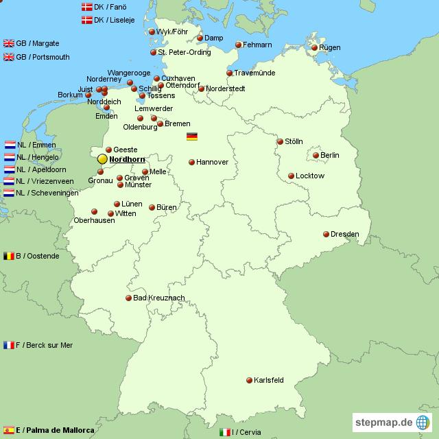 nordhorn karte Nordhorn Kite Fliers Online   Die erste Nordhorner Drachen