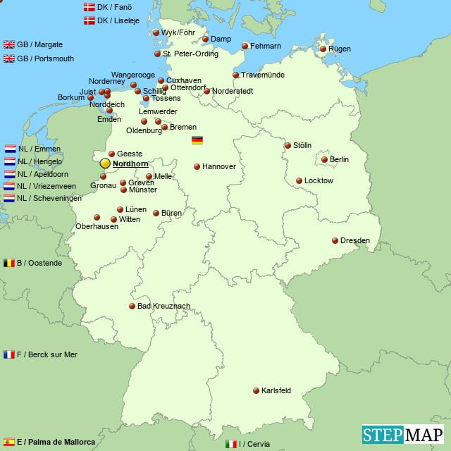 Nordhorn Kite Fliers Festival Map