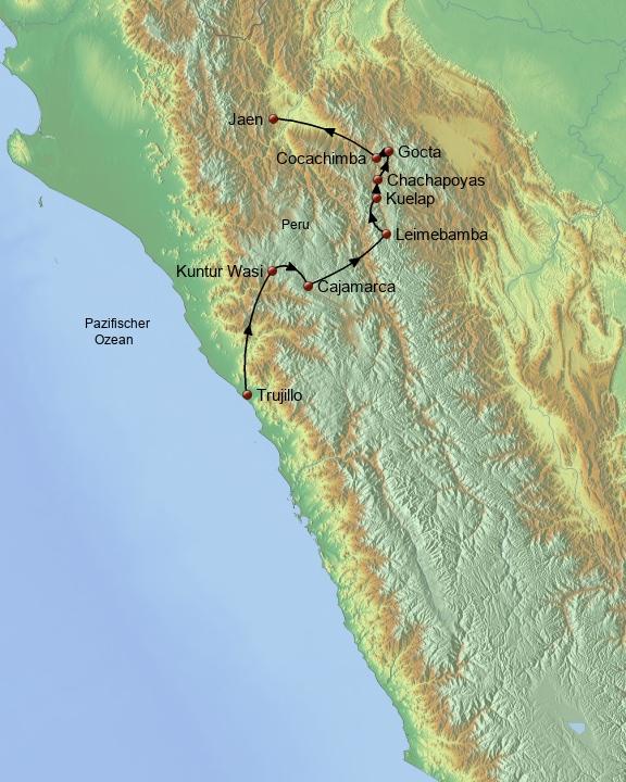 Der Norden Perus Baustein