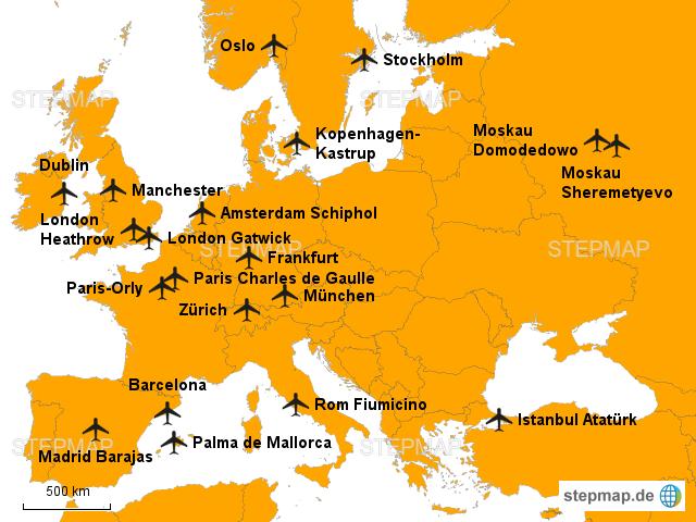 Flughäfen Europa