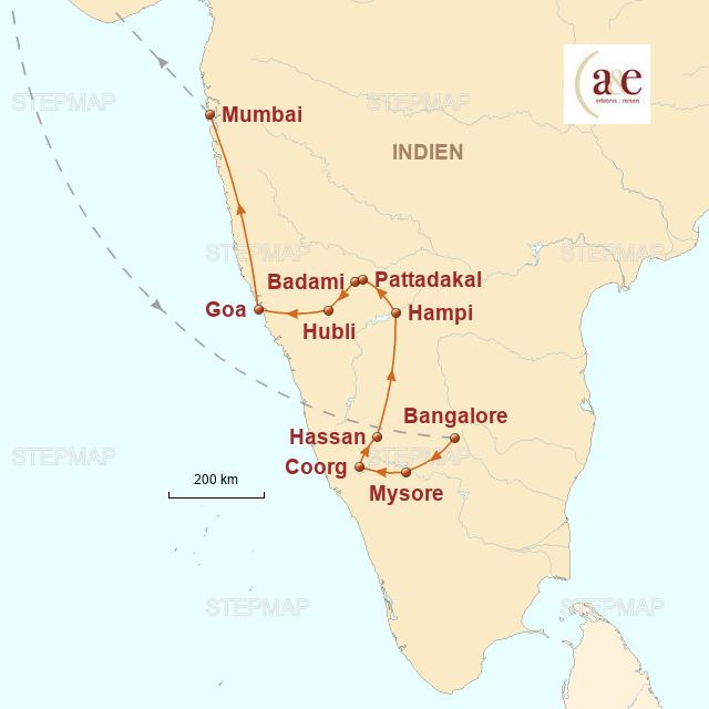 Routenkarte zur Reise Magische Tempel, Meer und Metropolen