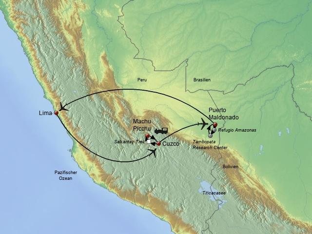 Von den Anden zum Amazonas