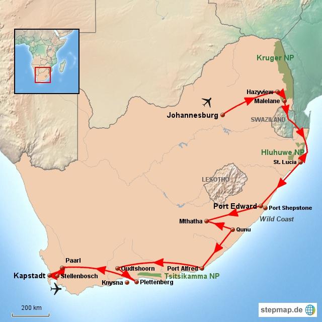 SA Südafrika Essentials Südroute