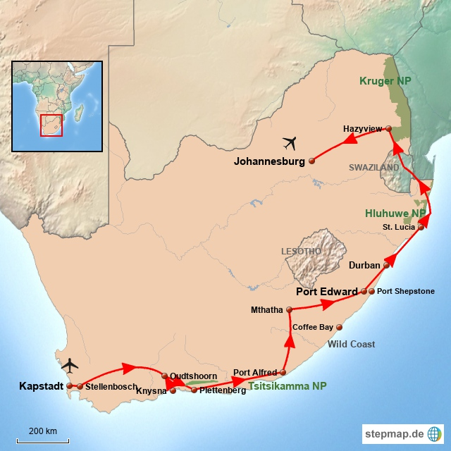 SA Entdeckungsreise durch Südafrika TIRC