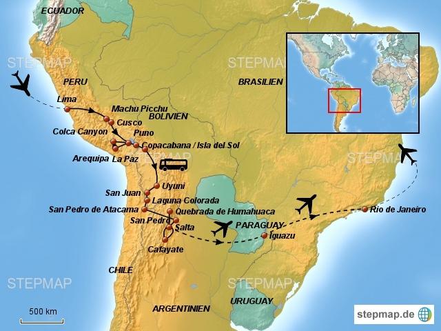 Grosse Südamerika Reise (28 Tage)