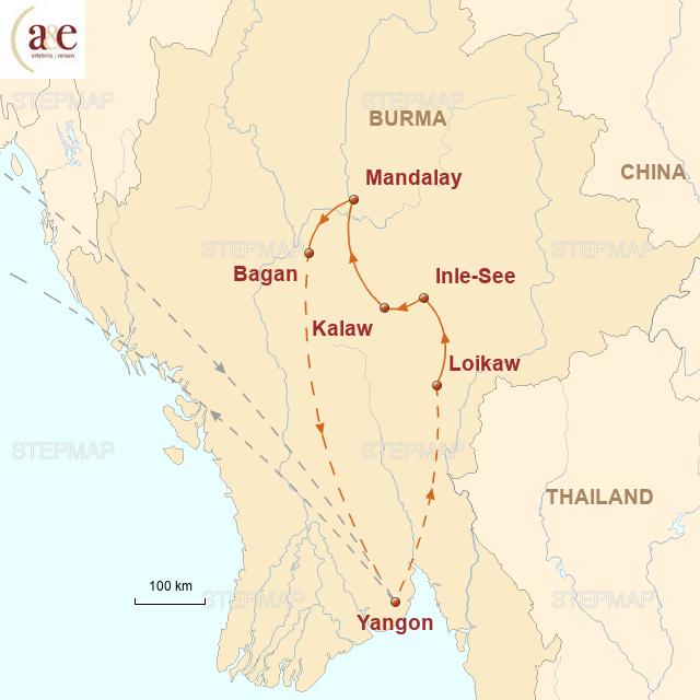 Routenkarte zur Reise Abenteuer Freiheit