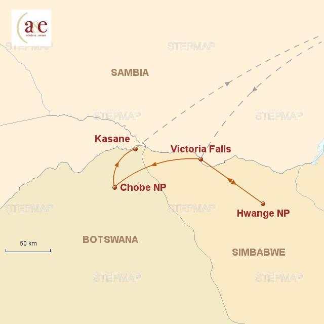 Routenkarte zur Reise Auf Elefanten-Pfaden