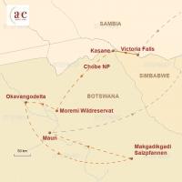 Routenkarte zur Reise Abenteuer & Wildnis