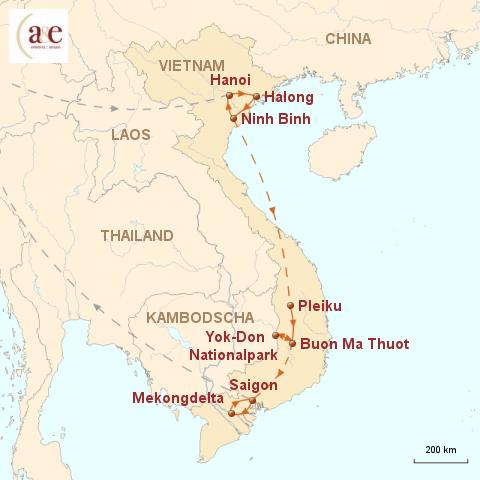 Malaria Kambodscha Karte.Vietnam Reisen Das Land Am Mekong A E Erlebnis Reisen