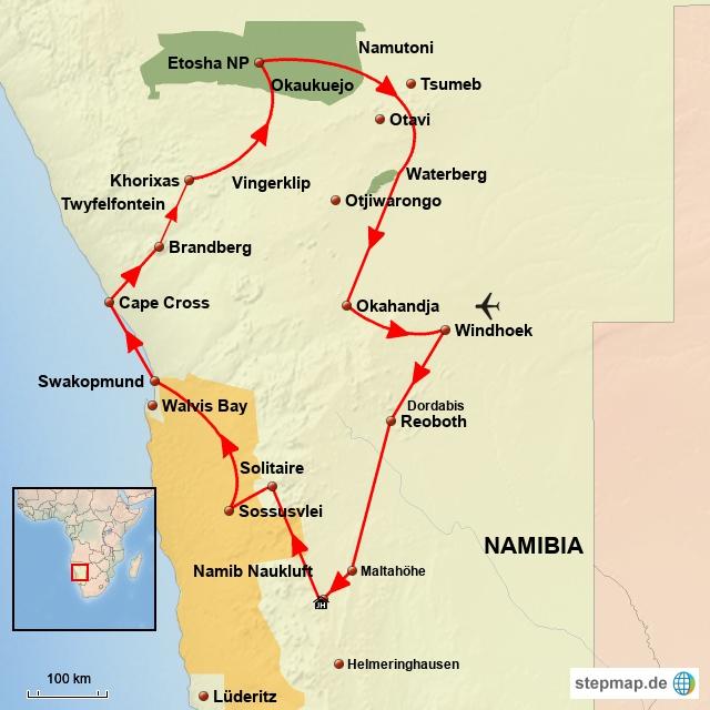 SW.Familiensafari in Namibia