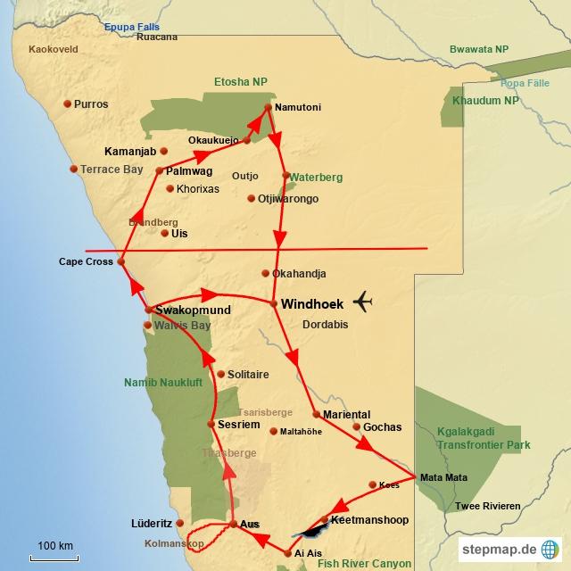 SW Namibia für Preisbewusste