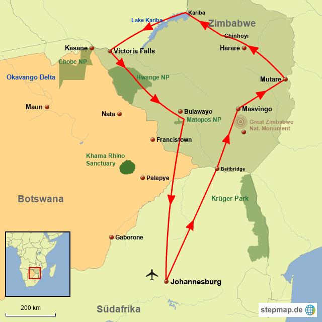 Zim Zimbabwe Camping Abenteuer
