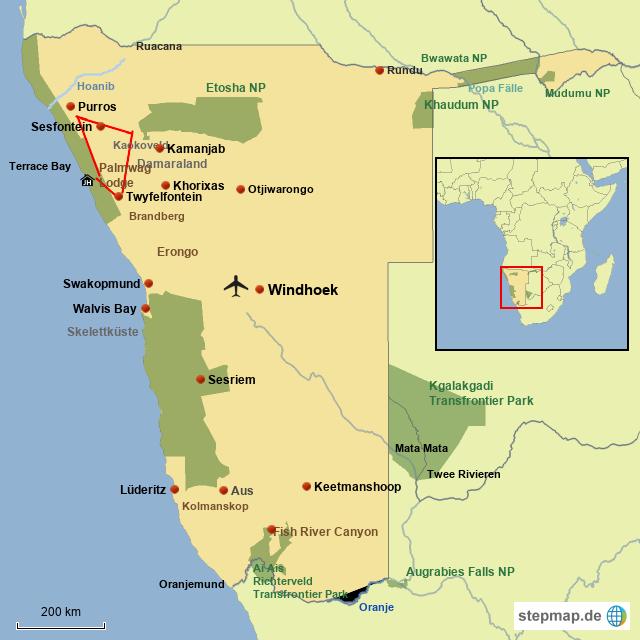 SW Wüstenelefanten, Spitzmaulnashörner & mehr