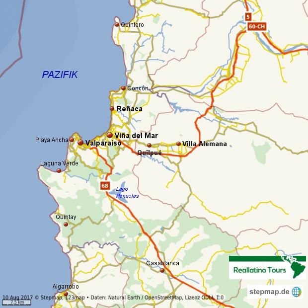 Valparaíso und Viña del Mar