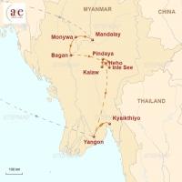 Routenkarte zur Reise Ursprünglichkeit Asiens 2019