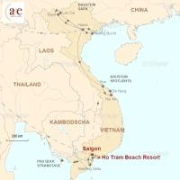 Routenkarte zur Reise Strandtage im Ho Tram Beach Resort