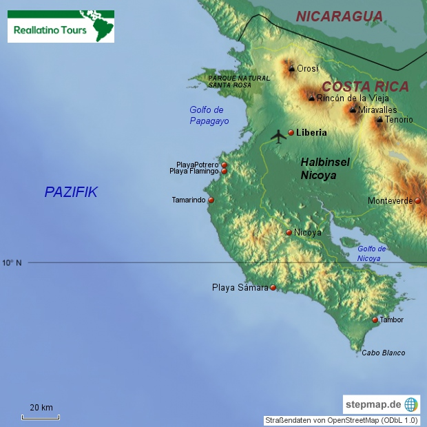 Costa Rica Nordpazifik