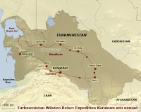 TRM 541 - Turkmenistan Wüsten Reise: Expedition Karakum