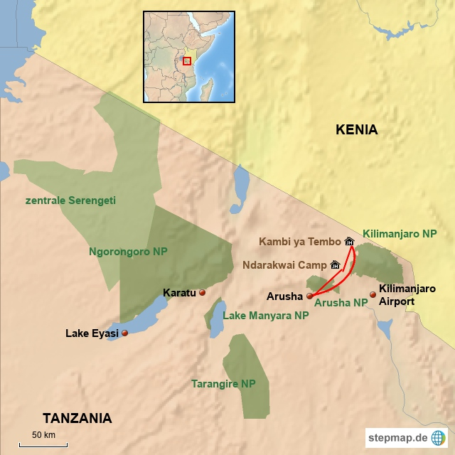 TZ Baustein West Kilimanjaro