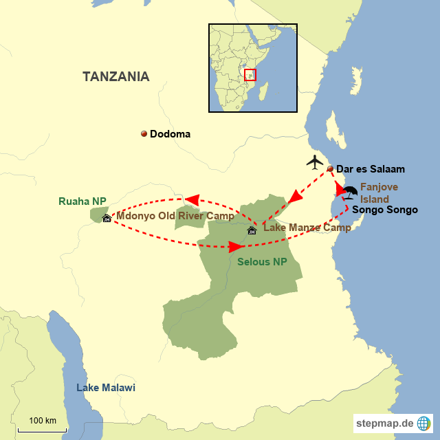 TZ Selous, Ruaha & Fanjove Island