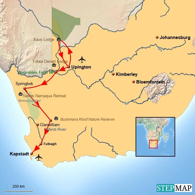 SA Reise durch die Mitte und Westen