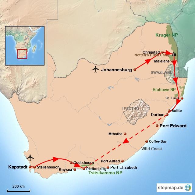 SA Klassische Südafrika Reise
