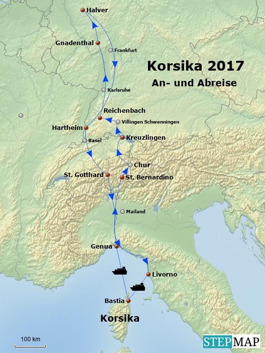 Korsika An- und Abreise