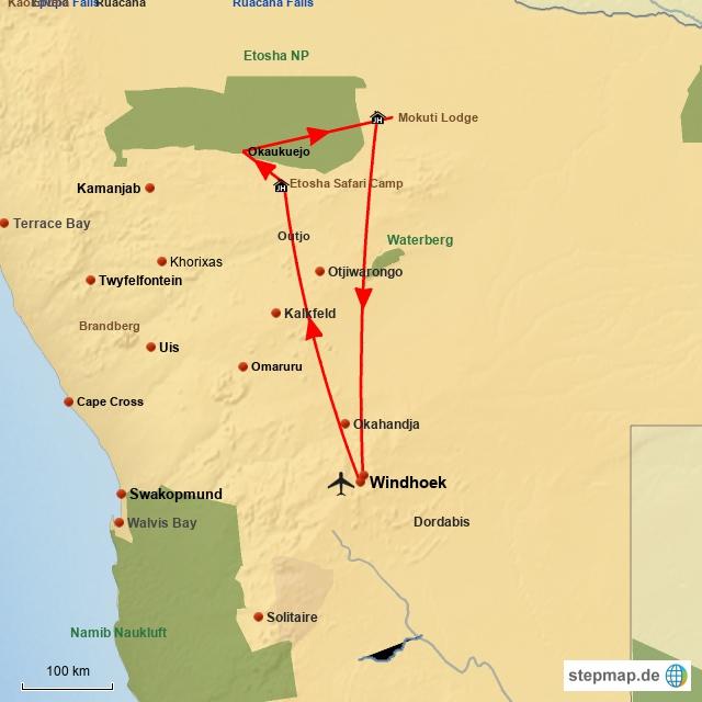 SW Namibia Etosha Safari