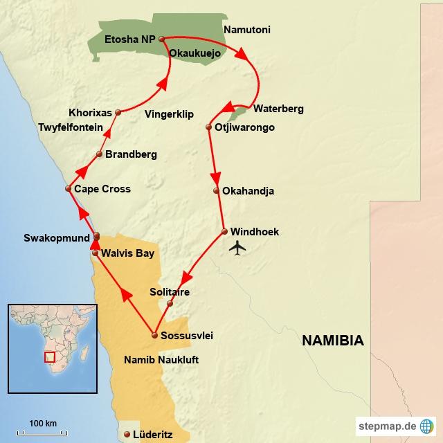 NA Entdeckungsreise durch Namibia