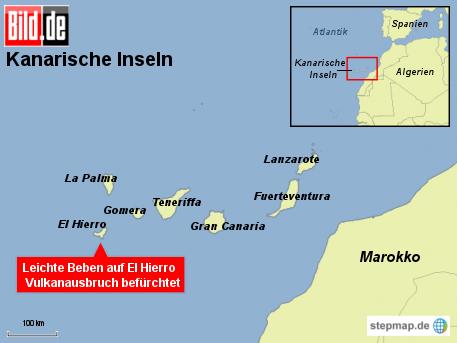 Bild.de: Vulkanausbruch auf El Hierro befürchtet