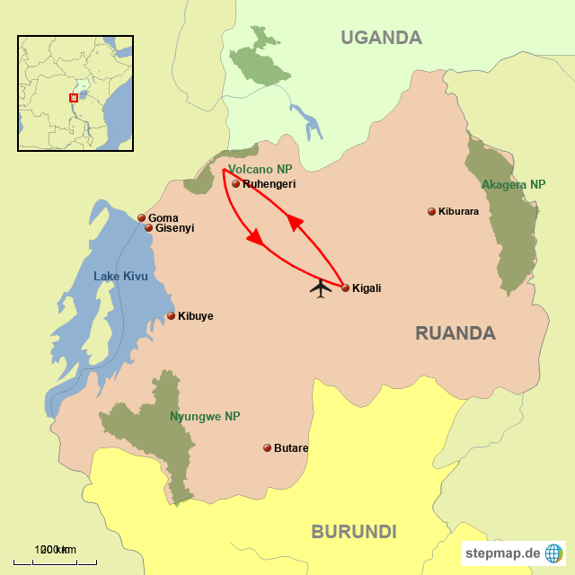 RU Ruanda Gorilla Express