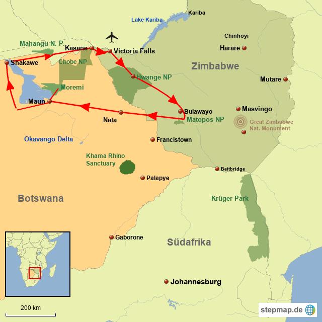BO Safarierlebnisse in Botswana & Zimbabwe