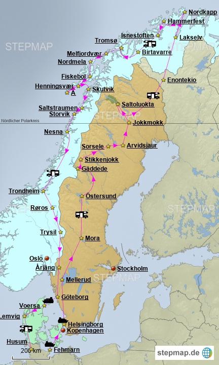 Die auf der Karte angezeigten Sternchen und Ortschaften waren unsere Stellplätze, zu 90 % in der Pampa, also keine Campingplätze.