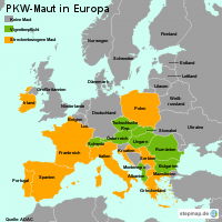 PKW-Maut in Europa