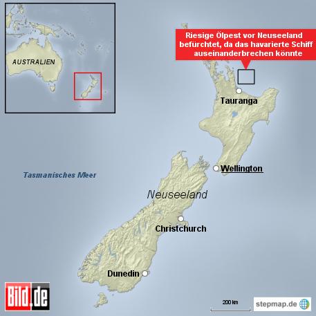 Bild: Riesige Ölpest droht vor Neuseeland