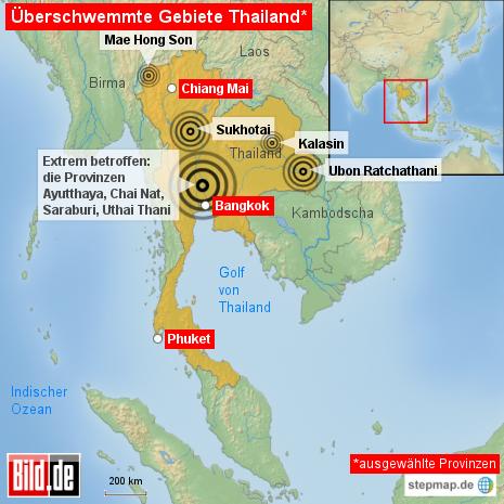 Thailand Überschwemmung 10-2011