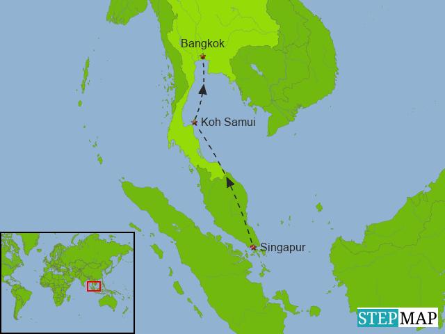 Singapur - Koh Samui - Bangkok