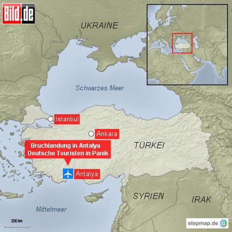 bild.de: Bruchlandung in Antalya