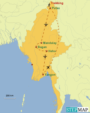 Trekking im Himalaya Myanmar