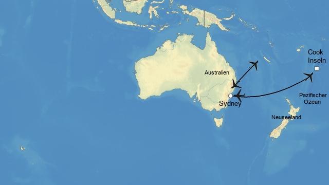 Sydney und Cooks Internet