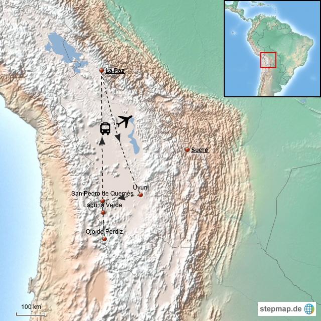 Uyuni Salzsee & Naturreservat E. AvaroaTour (3 Tage, ab/bis La Paz)
