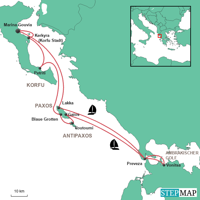 Segeln Korfu