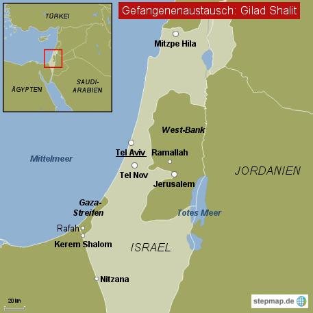 Gilad Shalit - wichtige Orte