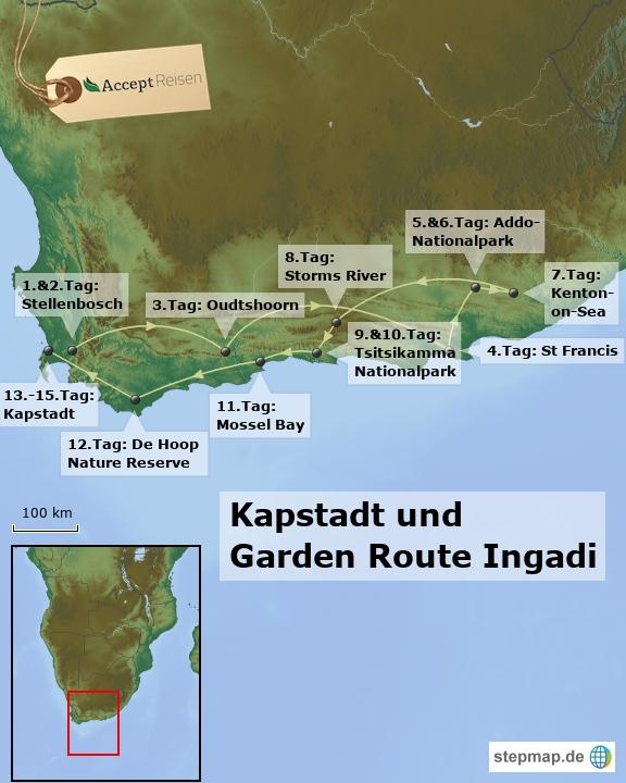 Südafrika Kapstadt und Garden Route Reise Ingadi