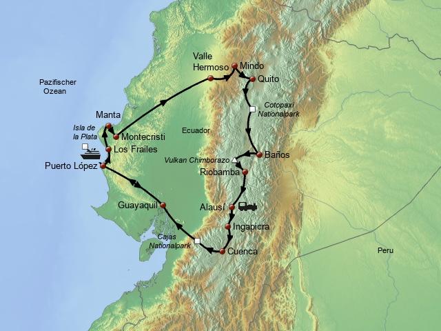 Mit dem Mietwagen durch Ecuador