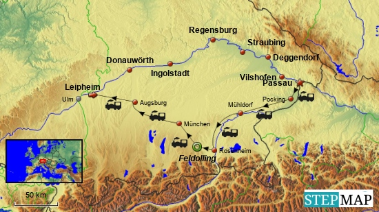 Der gesamte Tourablauf incl. Hin- und Rückreise mit der Bahn zum Tourbeginn bzw. vom Tourende nach Hause.
