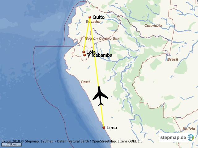 Lima - Quito - Loja - Vilcabamba