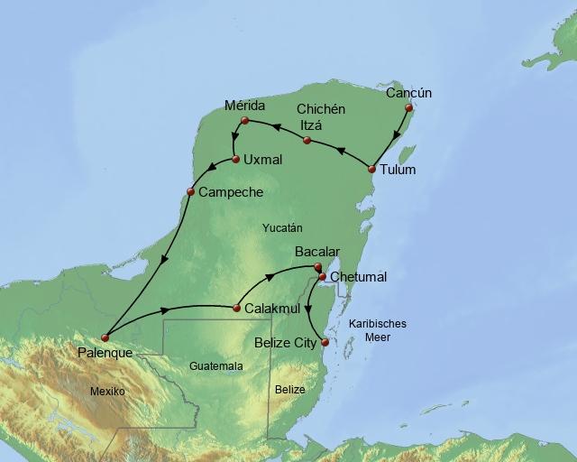 Yucatan Belize und Tikal