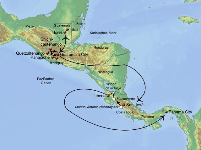 Zwischen Guatemala & Costa Rica 2018/2019