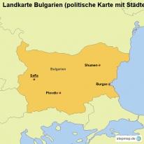 stepmap landkarten und karten zu bulgarien. Black Bedroom Furniture Sets. Home Design Ideas